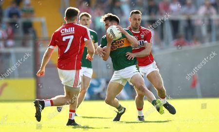 Cork vs Kerry. Cork's Kevin O Driscoll and Brian O'Beaglaoich of Kerry