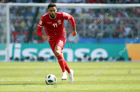 Dylan Bronn in action during the Fifa World Cup Russia 2018, Group C, football match between Belgium V Tunisia in Spartak Stadium in Moscow Stadium
