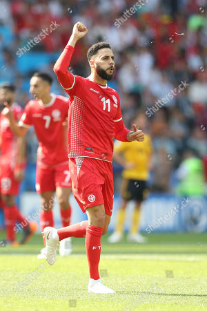 Dylan Bronn of Tunisia celebrates goal during match against Belgium game valid for the second round of Group G of the World Cup in Russia 2018 at Spartak Stadium in Moscow in Russia this Saturday, 23. (Photo: William Volcov )