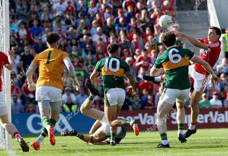 Cork vs Kerry. Cork's Mark Collins scores a goal