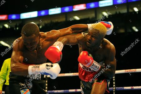 Stock Picture of Ohara Davies (black/red shorts) defeats Paul Kamanga during a Boxing Show at the The O2 Arena on 23rd June 2018