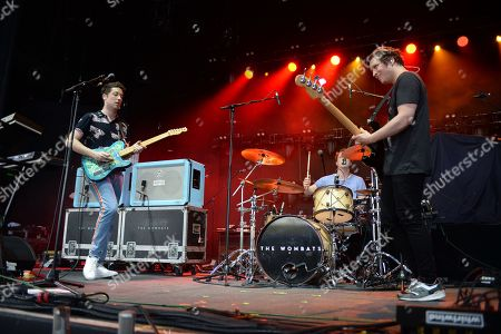 Editorial picture of The Wombats in concert at Coral Sky Amphitheatre, West Palm Beach, USA - 22 Jun 2018