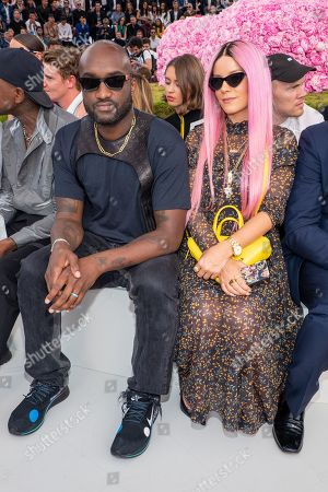 Virgil Abloh and Lily Allen in the front row