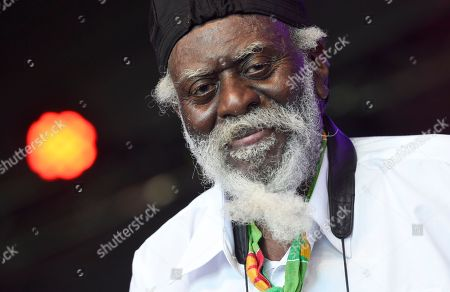 Stock Image of Saxophonist Pharoah Sanders performs on day 1 of the Arroyo Seco Music Festival, in Pasadena, Calif