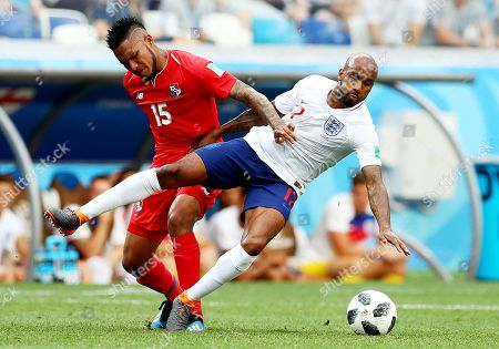 Erick Davis of Panama and Fabian Delph of England.