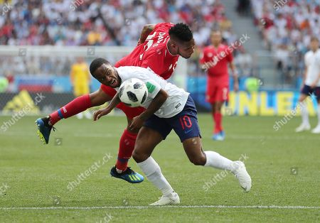 Erick Davis of Panama and Raheem Sterling of England