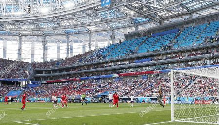 Stock Picture of Jesse Lingard of England scores a goal 3-0 past Goalkeeper Jaime Penedo of Panama