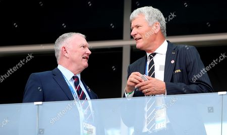 FA Chairman Greg Clarke (left) and David Gill Vice Chairman of the Football Association