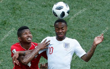 Raheem Sterling of England and Fidel Escobar of Panama