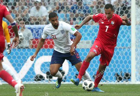 Blas Perez of Panama and Ruben Loftus-Cheek of England