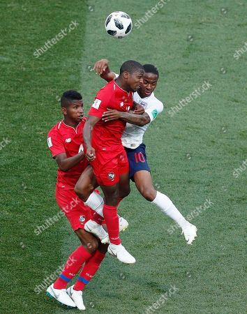 Raheem Sterling of England and Armando Cooper of Panama
