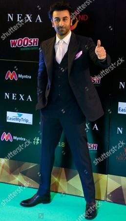 Bollywood actor Ranbir Kapoor poses on the green carpet at 19th edition of International Indian Film Academy (IIFA) awards in Bangkok, Thailand