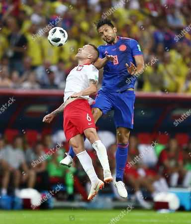 Stock Image of Jacek Goralski of Poland and Abel Aguilar of Colombia