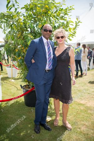 Colin Salmon and his wife Fiona Hawthorne