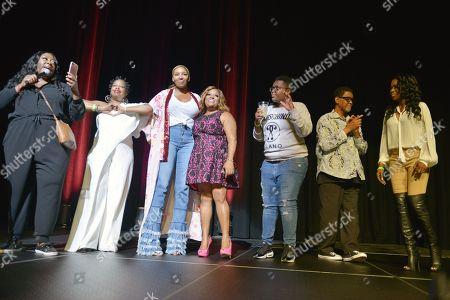 Loni Love, Adele Givens, NeNe Leakes, Sherri Shepherd, Sam Jay, Gregg Leakes and Melanie Comarcho