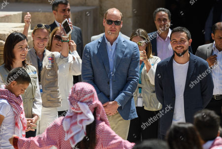 Prince William and Crown Prince of Jordan Al Hussein bin Abdullah visit the Jerash Archaeological site