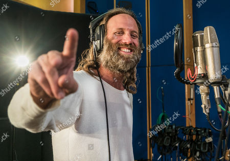 Gary Stringer from Reef recording at Abbey Road Studios