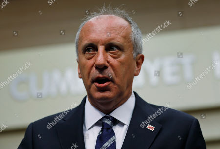 A day after elections, Muharrem Ince, the candidate of Turkey's main opposition Republican People's Party, listens to a reporter's question during a news conference in Ankara, Turkey, . Turkey's president Recep Tayyip Erdogan, 64 who has dominated Turkish politics for the past 15 years, is the winner of Sunday's polls and was set to extend his rule with sweeping new powers after winning landmark presidential and parliamentary elections