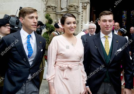 Prince Louis, Princess Alexandra, Prince Sebastian at the Notre-Dame cathedral