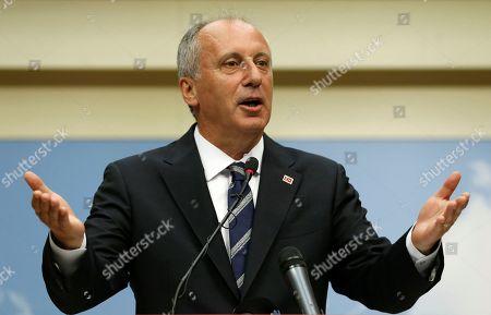 Editorial image of Ince concedes defeat in Turkey snap elections, Ankara - 25 Jun 2018