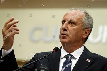 Editorial picture of Ince concedes defeat in Turkey snap elections, Ankara - 25 Jun 2018