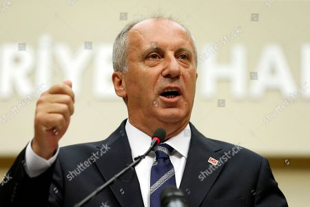 Muharrem Ince, oppositional presidential candidate speaks during a press conference after election results in Ankara, Turkey, 25 June 2018. Ince conceded defeat after some 56.3 million registered citizens voted in snap presidential and parliamentary elections to elect 600 lawmakers and the country's president, the first election since the Turkish people in a referendum in April 2017 voted to change the country's system from a parliamentary to a presidential republic.