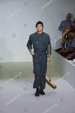 Rod Paradot on the catwalk