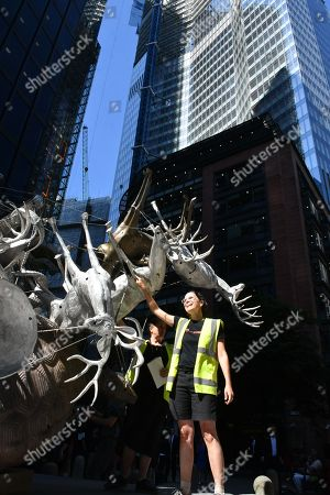 Editorial image of Sculpture in the City photocall, London, UK - 25 Jun 2018