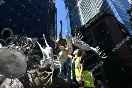 Stock Photo of Nancy Rubins' 'Crocodylius Philodendrus', a large 3x4x3.5 metre arrangement comprised of animals cast in iron, bronze, brass and aluminium