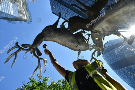 Editorial photo of Sculpture in the City photocall, London, UK - 25 Jun 2018