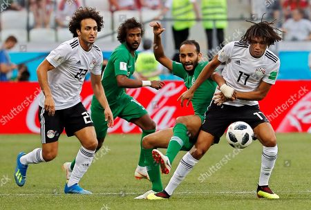 Salman Al-Faraj, Amr Warda and Mohamed Elneny