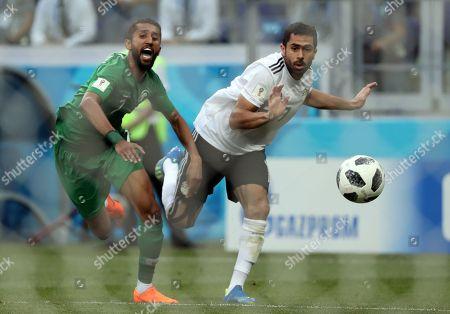 Salman Al-Faraj of Saudi Arabia and Ahmed Fathi of Egypt