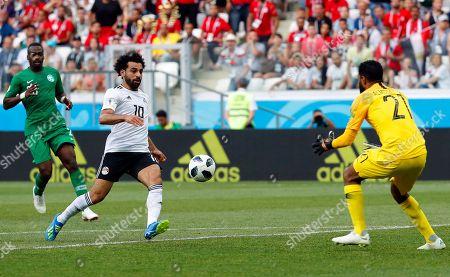 Mohamed Salah and Yasser Al Mosailem