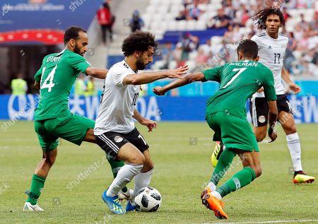 Mohamed Salah and Abdullah Otayf