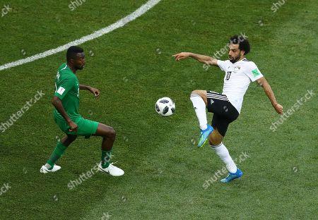 Editorial picture of Saudia Arabia v Egypt, Group A, 2018 FIFA World Cup football match, Volgograd Stadium, Russia - 25 Jun 2018