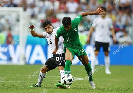 Tarek Hamed of Egypt and Housain Al-Mogahwi of Saudi Arabia