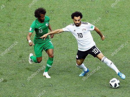 Mohamed Salah of Egypt and Yasser Al-Shahrani of Saudi Arabia