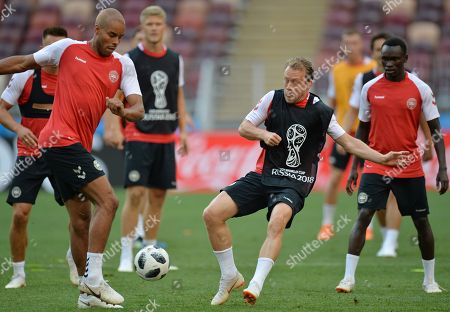 Editorial image of Denmark training, Moscow, Russian Federation - 25 Jun 2018