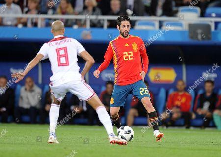 Karim El Ahmadi of Morocco Isco of Spain