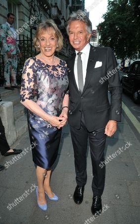Dame Esther Rantzen and Richard Caring