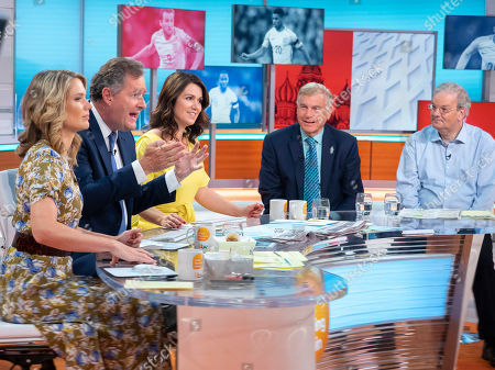 Charlotte Hawkings, Piers Morgan and Susanna Reid with Sir Trevor Brooking and Statto aka Angus Loughran