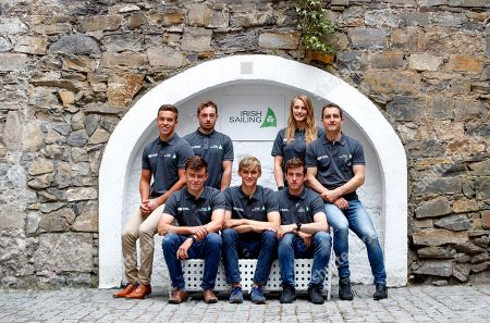 With the prospect of the Tokyo Olympic Games just two years away the first qualification opportunity for Irish Sailors takes place at the Sailing World Championships, Aarhus, Denmark 30th July - 10th August. A total of 14 Irish Athletes will compete at the championships in four different classes of boat 49er, Laser Standard, Laser Radial and Finn. Pictured today is (L-R) Sean Waddilove, Tadgh Donnelly, Mark Hassett, Robert Dickson, Finn Lynch, Aoife Hopkins and Liam Glynn