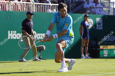 Cameron Norrie (GBR) Vs Daniel Brands (GER) at the Nature Valley International at Devonshire Park, Eastbourne. Picture by Jonathan Dunville