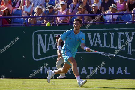 Stock Picture of Cameron Norrie (GBR) Vs Daniel Brands (GER) at the Nature Valley International at Devonshire Park, Eastbourne. Picture by Jonathan Dunville