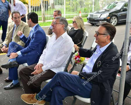 Commissioner Xavier Louis Suárez, Miami Mayor Francis X. Suarez, Former Mayor Manny Diaz, City of Miami Commissioner Manolo Reyes, Lily Tester and Andy Garcia
