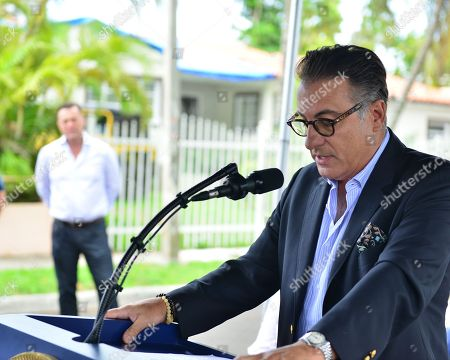 Editorial image of Julio Oscar Mechoso street designation, Miami, Florida, USA - 25 Jun 2018