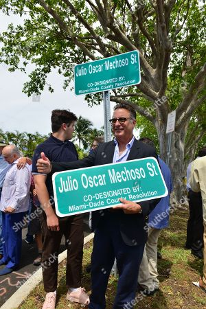 Andy Garcia (R) and son Andres Garcia