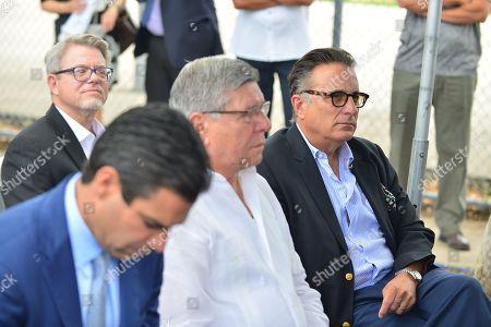 Miami Mayor Francis X. Suarez, City of Miami Commissioner Manolo Reyes, Andy Garcia and David Valoente