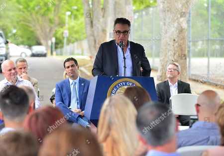 Mickey Minagorri, Former Mayor Manny Diaz, Miami Mayor Francis X. Suarez, Andy Garcia and David Valoente