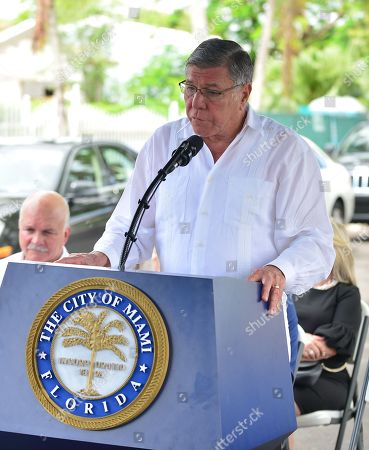 Mickey Minagorri and City of Miami Commissioner Manolo Reyes